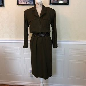 Price Drop 🎀 Vintage Dark Green Utility Dress